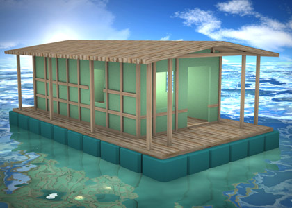 floating house prefabricated