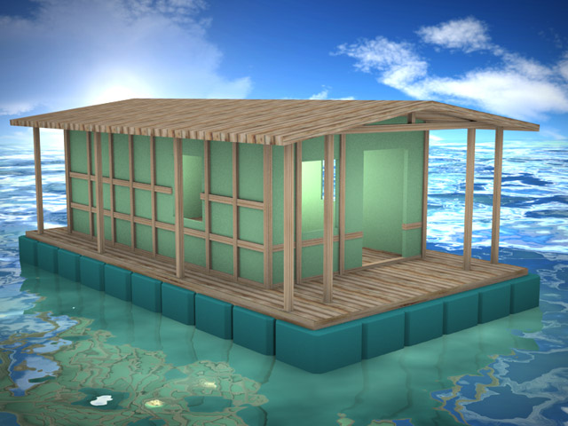 Casa galleggiante prefabbricata